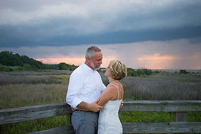 romantic sunset beach elopement