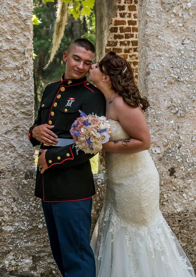 Military elopement beaufort sc