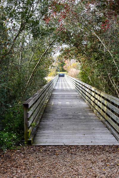 boardwalk over the marsh area at fish haul beach park on hilton head island