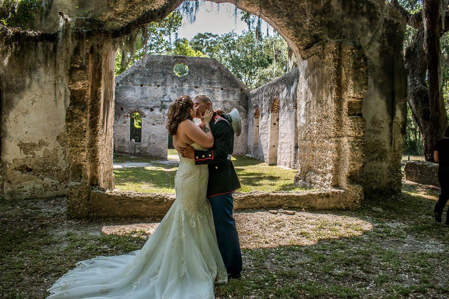 military elopement first kiss