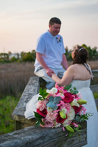 bridal bouquet as part of beachelopemnt package on hilton head island sc