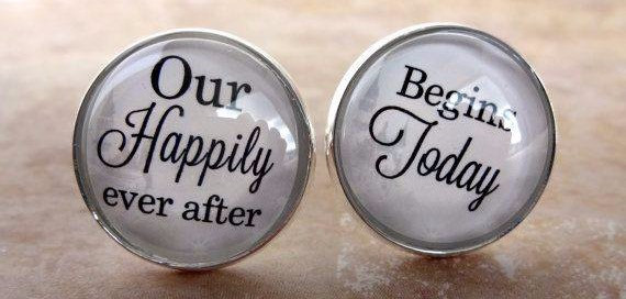 happily ever after cuff links