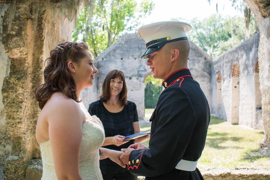 military elopement ceremony