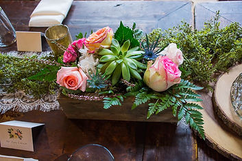 rustic centerpeice design by penny