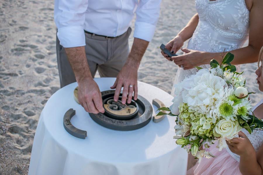 beach wedding puzzle ceremony