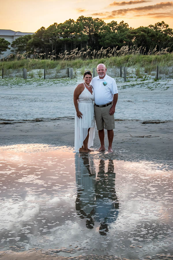 Sunset elopement on Hilton Head Island