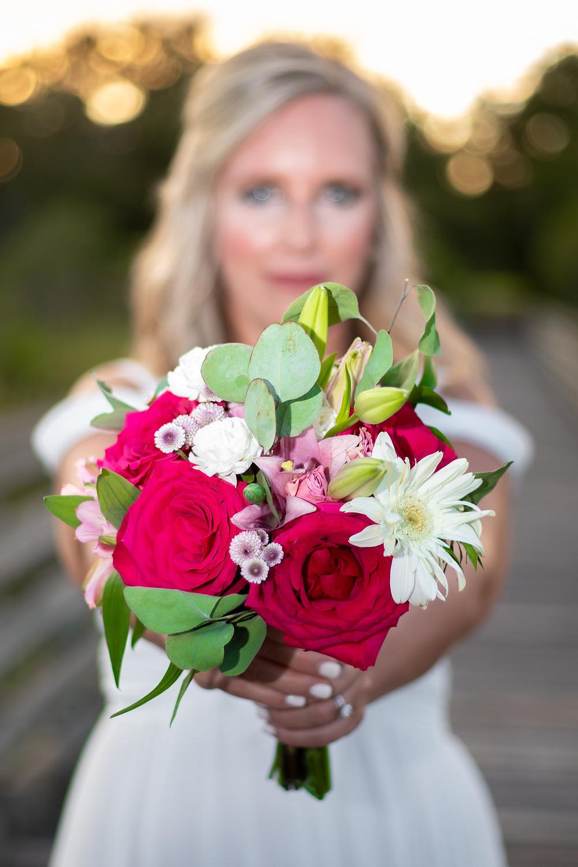 shades of pink bouquet in hilton head island south carolina