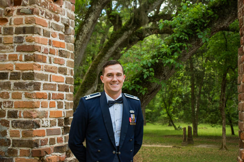 military elopement at historic location sc
