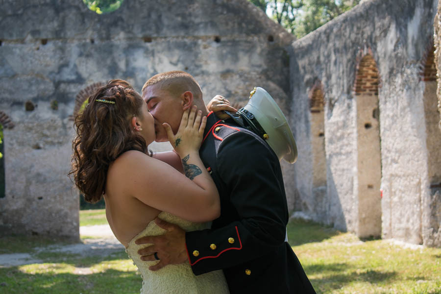 first kiss at chapel ease