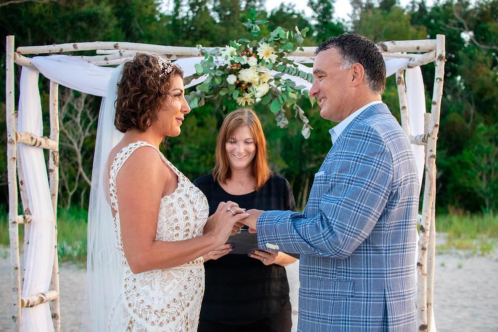 Wedding Ceremony at Fish Haul Beach