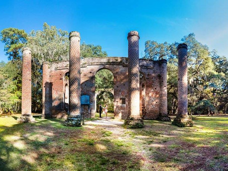 Old Sheldon Church Ruins in Beaufort County SC