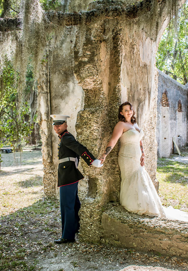 military first look wedding photo