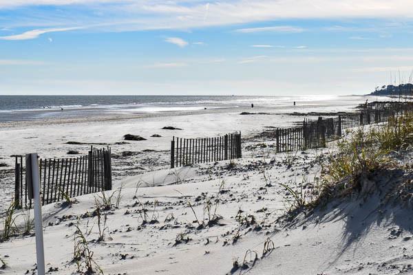 View of Burkes Beach in South Carolina