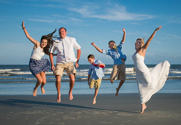 Beach elopement with kids on Hilton Head Island SC