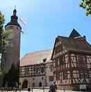 Türmersturm und Kurmainzisches Schloss Tauberbischofsheim, Main-Tauber-Kreis, TBB, Baden-Württemberg