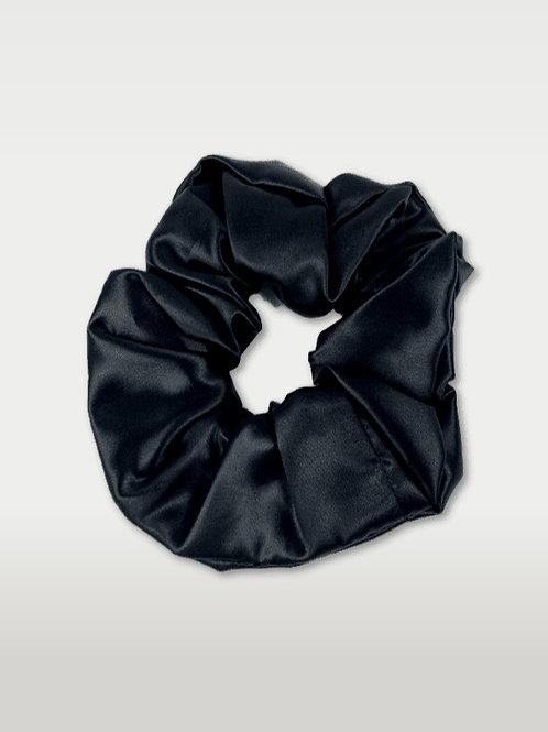only   a silk scrunchie - jet black (biggie)