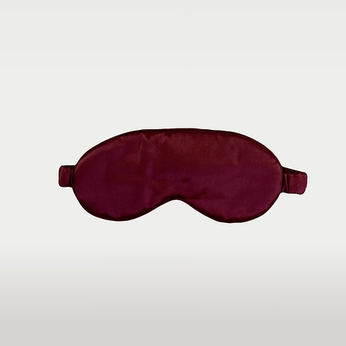 only | a silk eye mask - wine