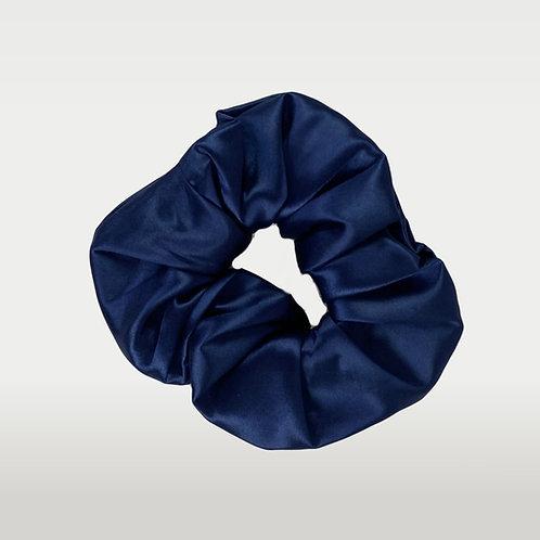 only | a silk scrunchie - navy (biggie)