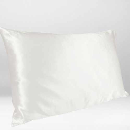 only | a silk pillowcase - ivory