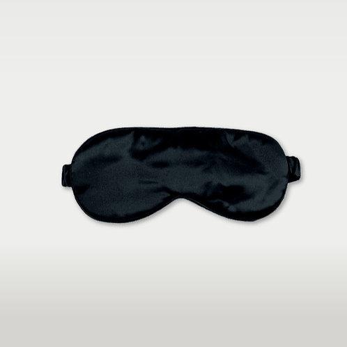 only | a silk eye mask - jet black