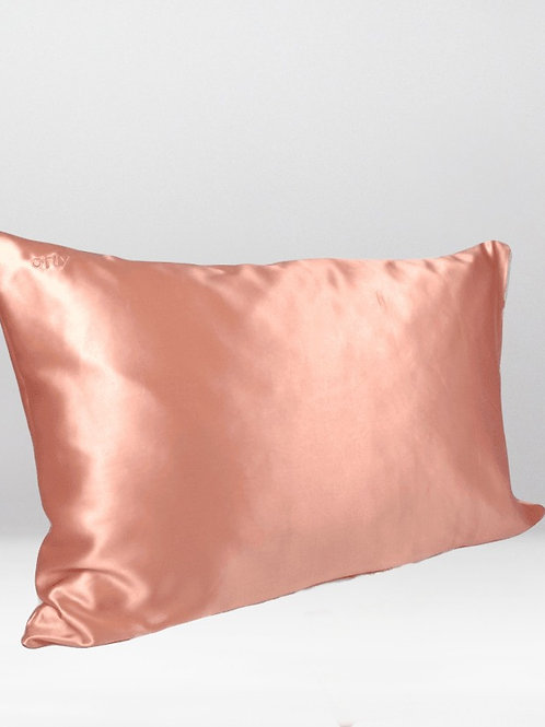 only   a silk pillowcase - rose gold