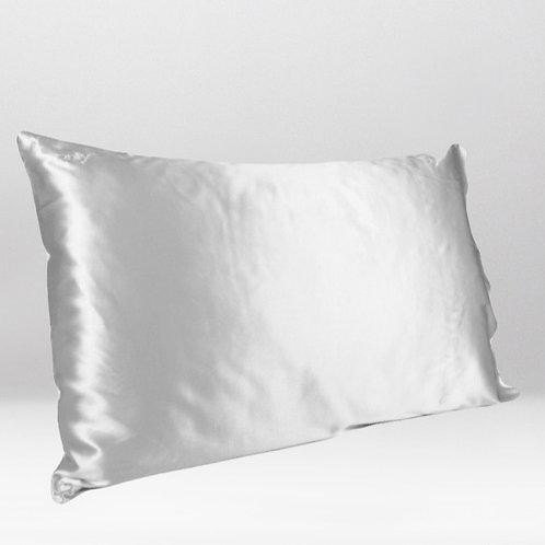only | a silk pillowcase - silver
