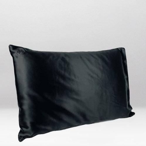 only | a silk pillowcase - jet black
