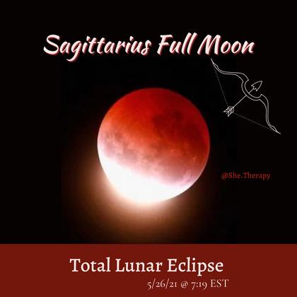 Sagittarius Full Moon & Total Lunar Eclipse