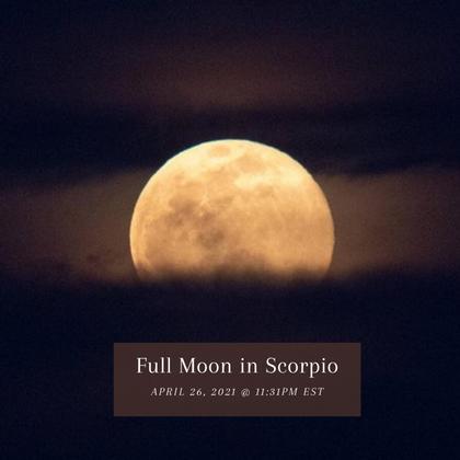 Scorpio Full Moon Messages: