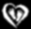 Logo baby feet inside heart