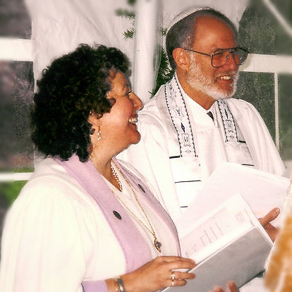 Rabbi_Roger Ross and Reverend Deborah Steen Ross perform a marriage ceremony