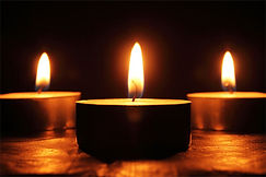 Candles at memorials and / or funerals.