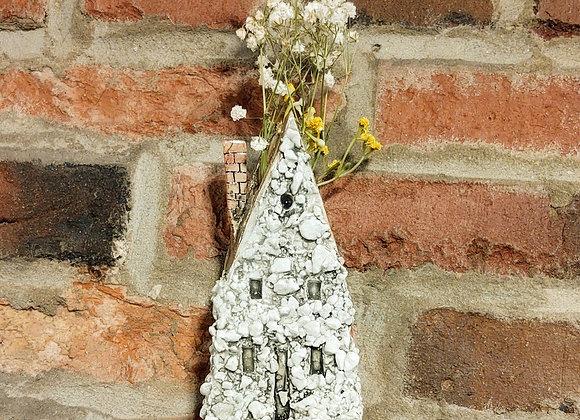 Cottage House Hanging Wall Vase