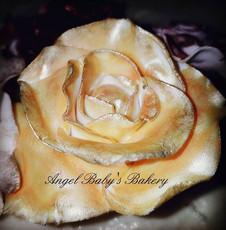 Handmade edible rose