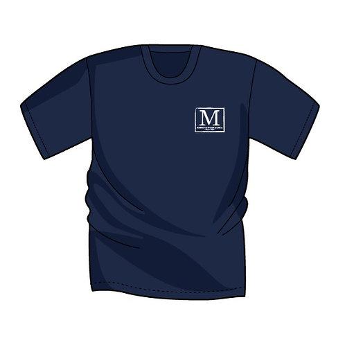 Merritt's Grill Blue Argyle Pig (Short Sleeve)