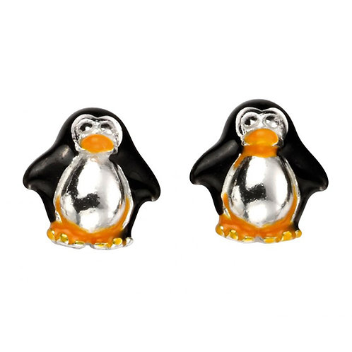 Penguin Silver Stud Earrings - E5418
