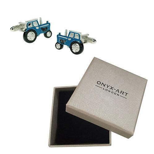 Blue Tractor Cufflinks - CK547