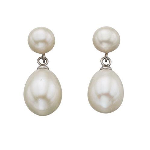 Freshwater Pearl White Drop Earrings - E5040W