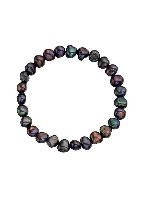 Pearl Black Bracelet - B114