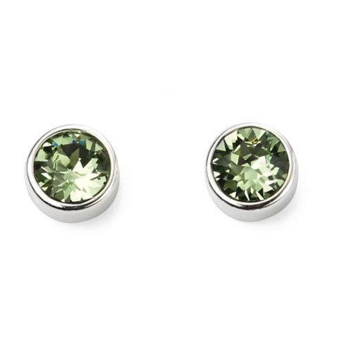 Silver Peridot Stud Earrings - E5564