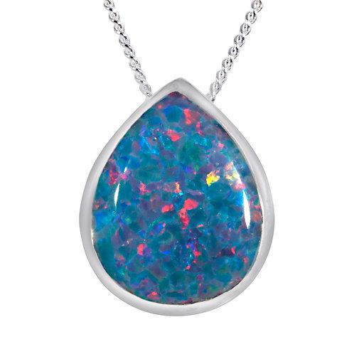 Silver Multi Coloured Opal Pendant - SP2312MCOP