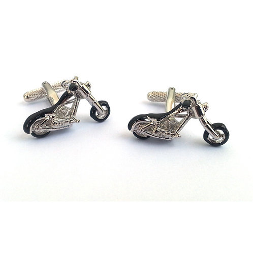 Hardtail Chopper with Twin Enqine Cufflinks - CK927