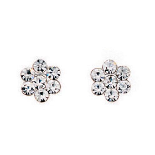 Flower Crystal Earrings - A589C