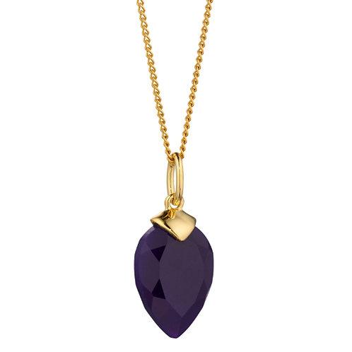 Purple Chalcedony Birthstone Pendant (February) - P4976