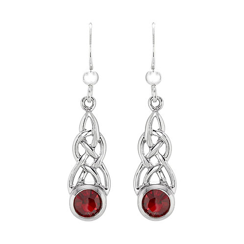 Silver celtic cz drop earrings- NSNEXCELTICGARE