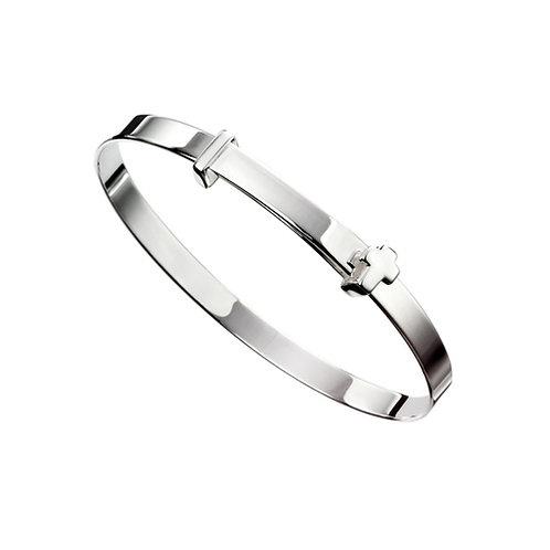 Silver Expanding Bangle - B5082