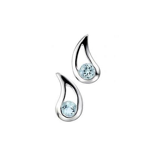 Silver Blue Topaz Earrings - E5037T