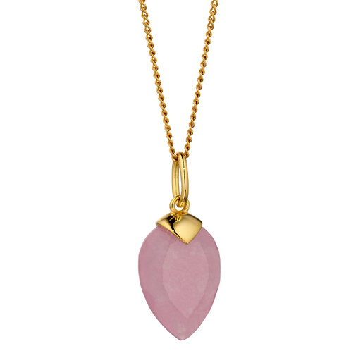 Pink Quartz Birthstone Pendant (June) - P4980
