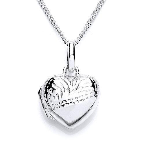 Silver Heart Locket - 1441-1