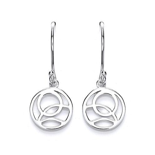 Silver Rennie Macintosh Drop Earrings - PUR3619ED